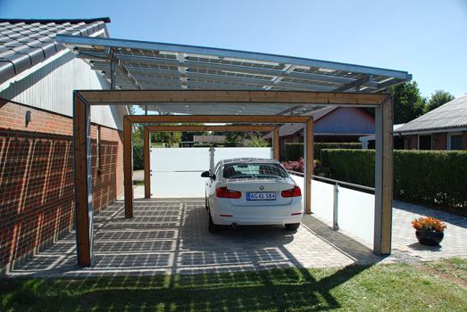 glass on glass solar panel carport