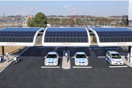 honda solar ev charging station