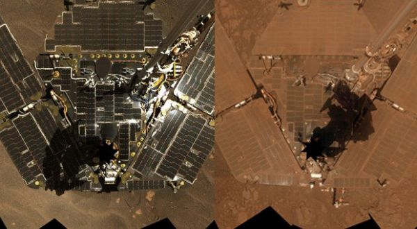 Opportunity Mars Rover Covered in Dust