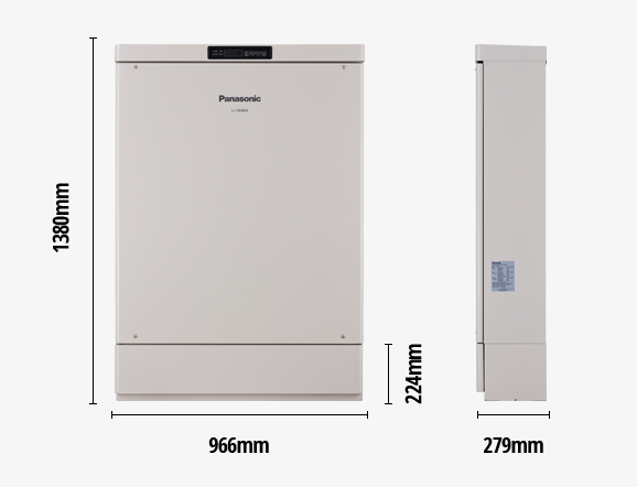 Panasonic residential storage battery size