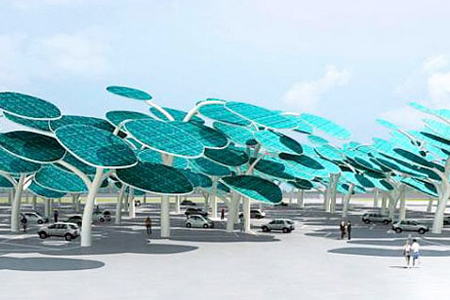 solar forest charging station