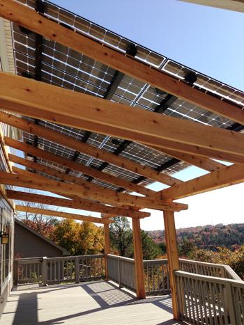 Glass on glass - light through solar panels