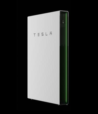 tesla power wall - side profile